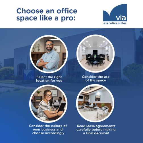 Choosing an office space like a pro infographic
